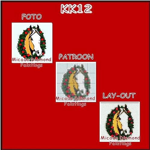 KK12 PAARD RONDE OF VIERKANTE STEENTJES