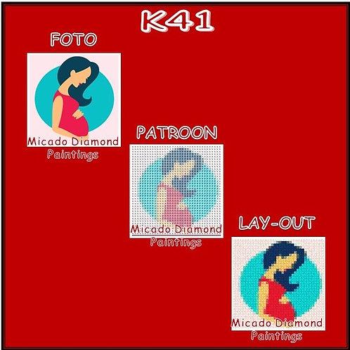 K41 MET RONDE OF VIERKANTE STEENTJES