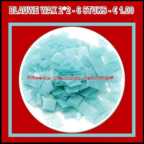 WAX BLAUW 2*2 6 STUKS