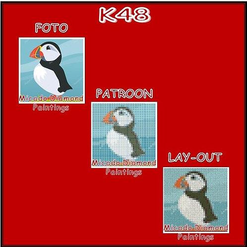 K48 MET RONDE OF VIERKANTE STEENTJES
