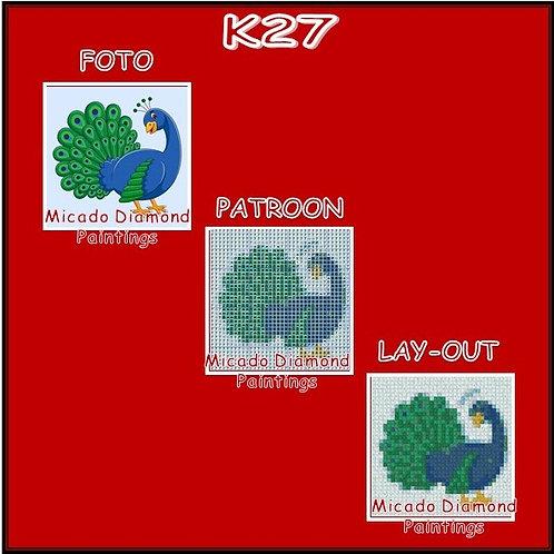 K27 MET RONDE OF VIERKANTE STEENTJES
