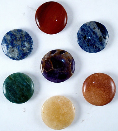 7 Chakra Disc Set Reiki Energy Healing Tools