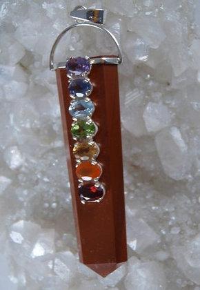 Powerful Jasper & Silver Chakra Balancing Pendant