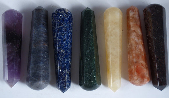 7 Chakra Crystal Energy Tool-Massage Wand Kit