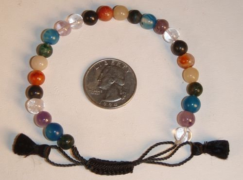 7 Chakra Power Healer Adjustible Bracelet