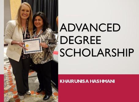 2020 TDHA Advanced Degree Scholarship Recipient