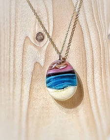 pink sunset beachcape necklace