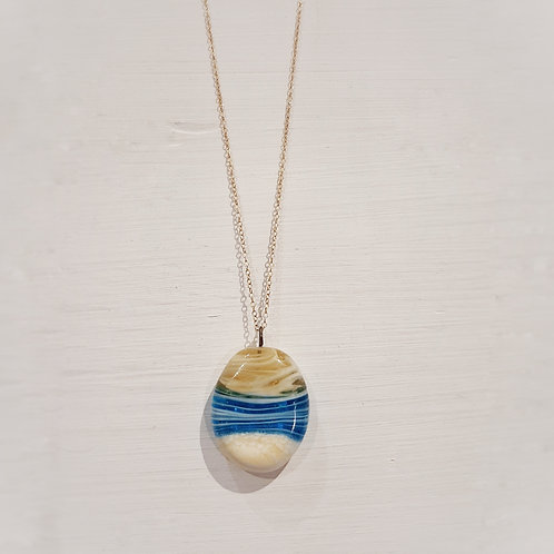 Sand infused sunset necklace