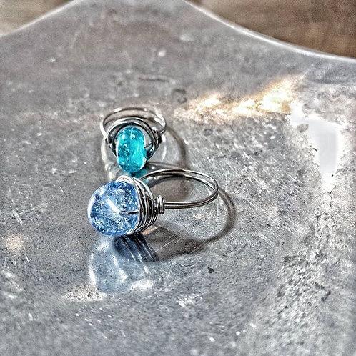 sand-infused ocean bead ring