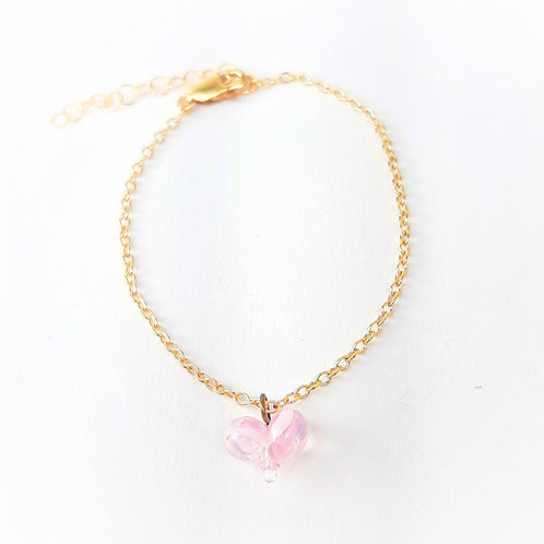 tiny heart bracelet