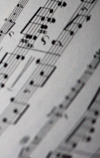 Sheet Music Close Up