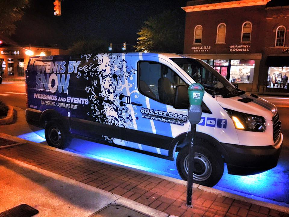 events by snow van