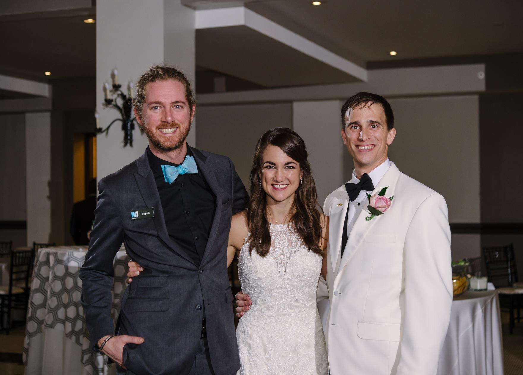 Kevin with Bride and Groom