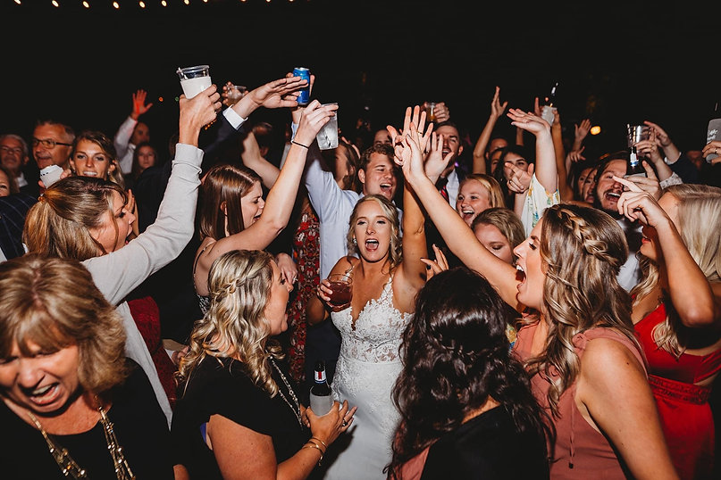 Dancing Wedding Party Bride and Groom DJ Fun in Columbia Lexington SC