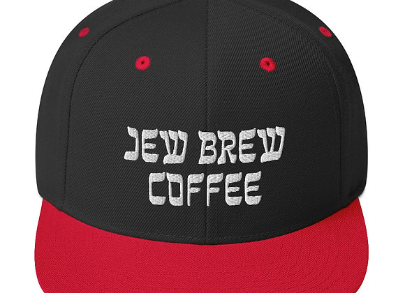 """JB Coffee""  White Letters Snapback Hat"