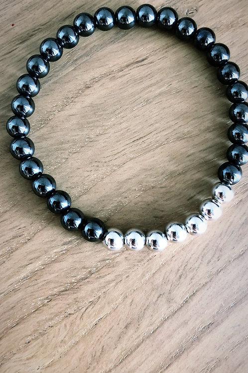 Bracelet Argent 925 et Hématite