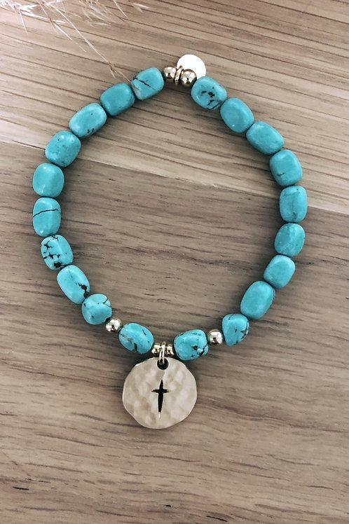 Bracelet Howlite turquoise Divine & Sauvage