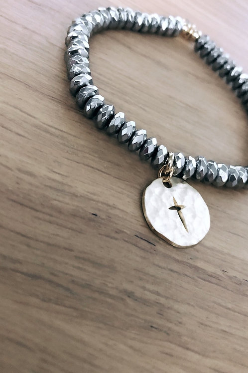 Bracelet Hématite Divine & Sauvage
