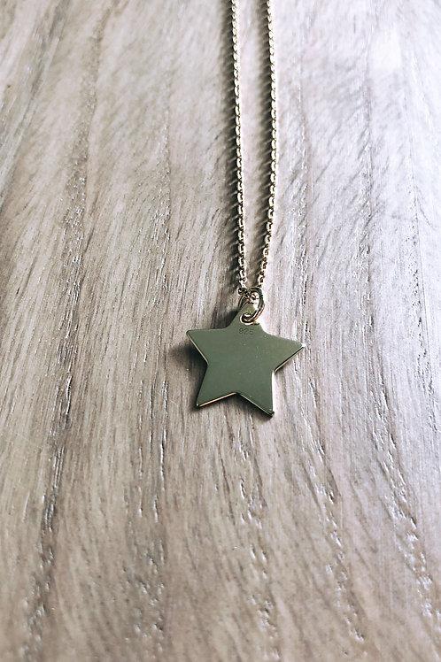 Collier étoile Argent 925 doré
