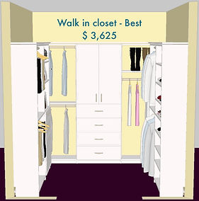 3D Walk In Best Version white Master closet - Lake Charles, LA - ShelveIt