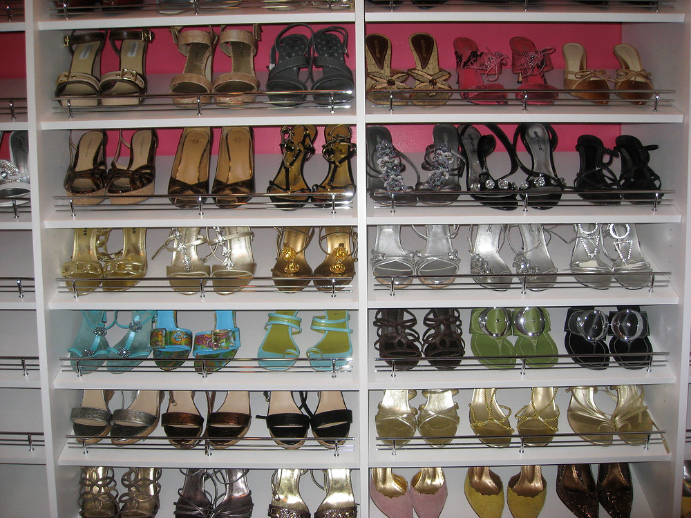 This closet we designed wouldn't be complete without these show-stopping shoes.