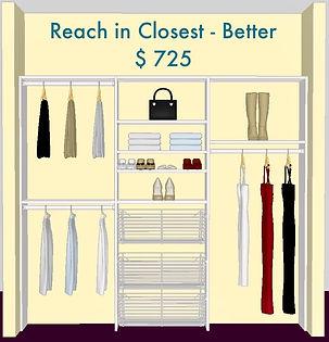 3D Design Reach in closet white - Lake Charles, LA - ShelveIt