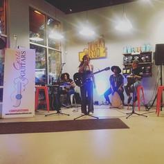 _alexathevaughn takes the stage at #girlsandguitars #atlanta #taproomcoffee