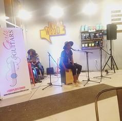 _rozrightnow rocked the house with some acoustic cajon vibes tonight! #girlsandguitars #taproomcoffee #atlanta