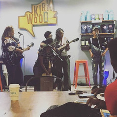 The ladies took the stage for a finale worship set! #girlsandguitars #sheplaystowin #atlanta #taproomcoffee