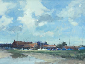 Mast Reflections at Brancaster Staithe