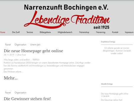 Die neue Homepage geht online