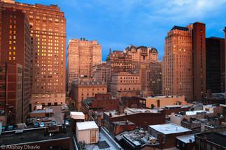 Downtown at sundown