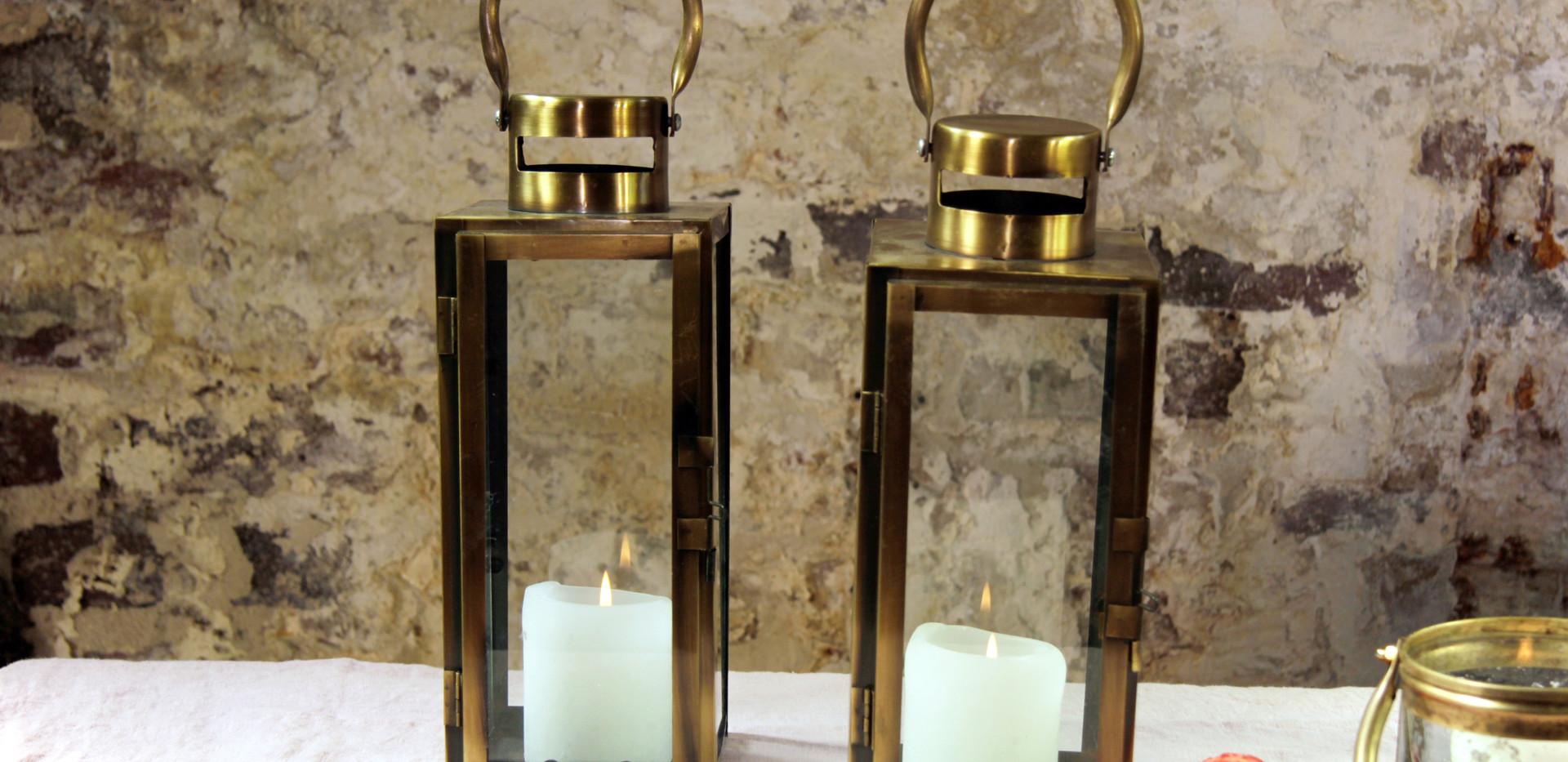Windlichter gold-groß 2 - Je Stk. 5,50 Euro