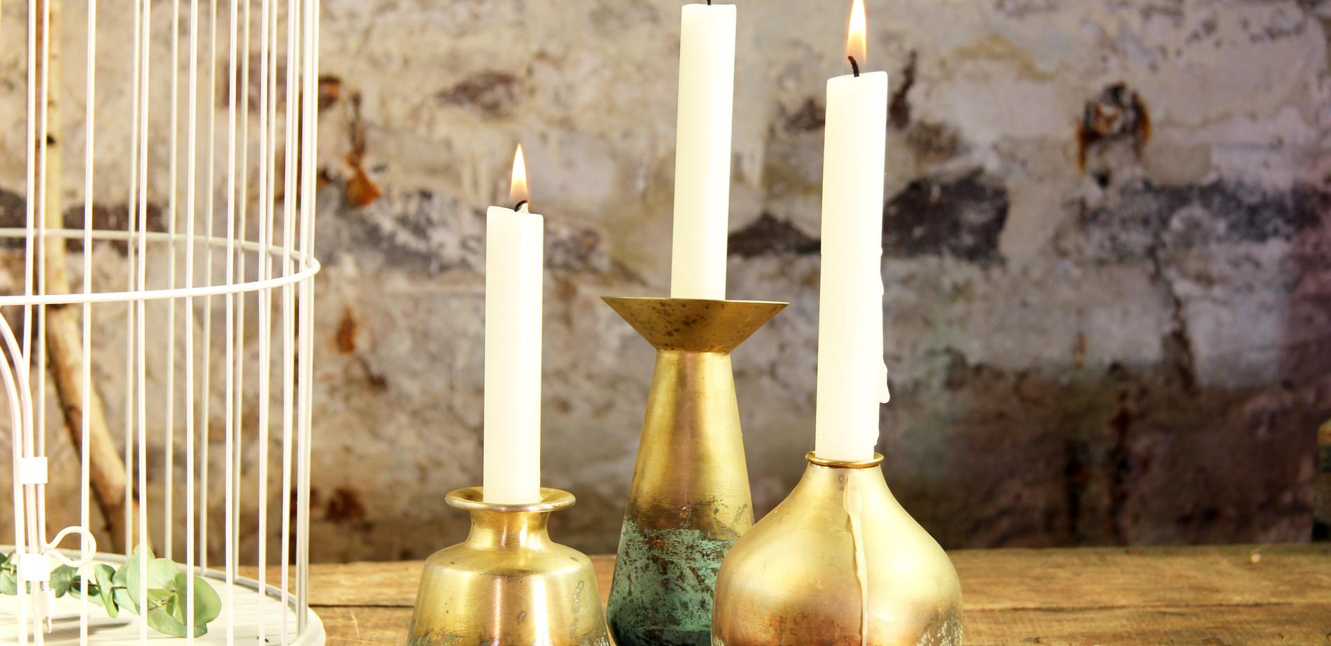 Goldene Kerzenständer Set 4,50 Euro