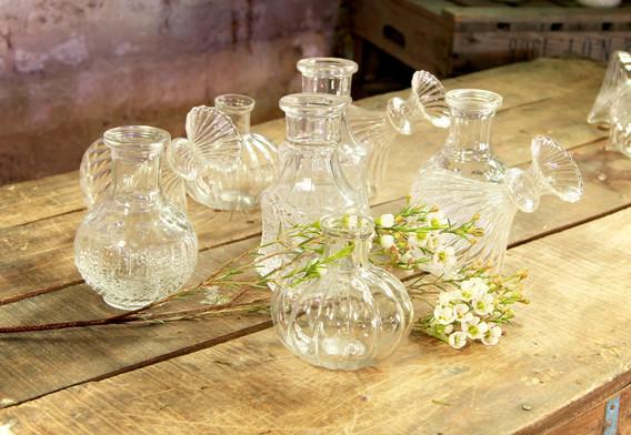 Kleine Glasvasen gemischt - Je Stk. 0,50 Euro