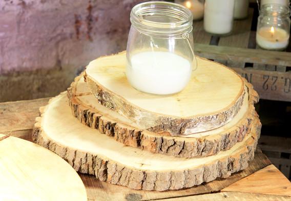 Holzscheiben verschieden Größe - Je Stk. 0,50 Euro