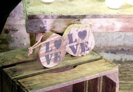 Love Schilder Holz - Je Stk. 0,50 Euro