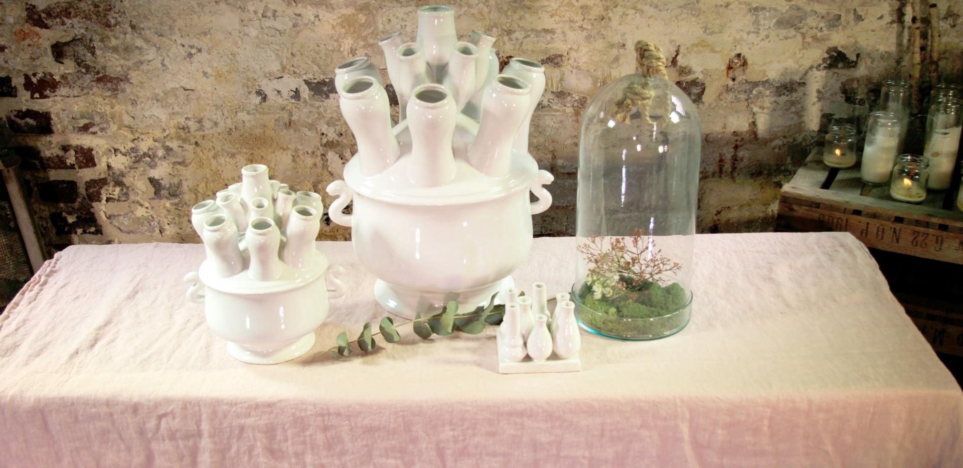 Vase Holland mini - 2,50 Euro - klein - 5,50 Euro - groß 11,50 Euro, Glasglocken Stk. 6,50 Euro