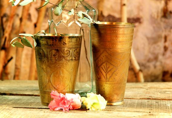 Goldene Vasen groß - Je Stk. 3,50 Euro