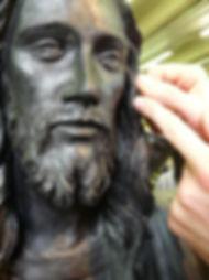 Cast Bronze Jesus statue