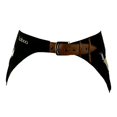 Sac-ceinture BOUCLE DOUBLE MARRON-BEIGE
