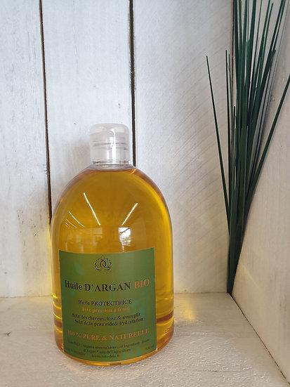 Huile pure Argan format Eco 500 ml* issu de l 'agriculture  biologique