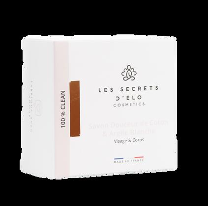 Savon Douceur de coton & Argile blanche