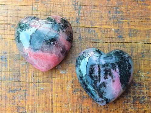 Rhodonite Hearts