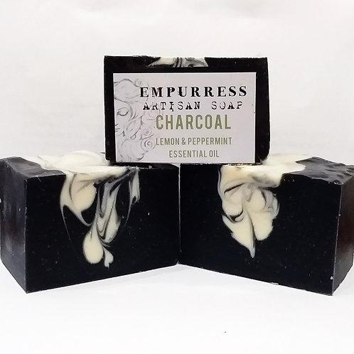 Charcoal Lemon & Peppermint Artisan Soap