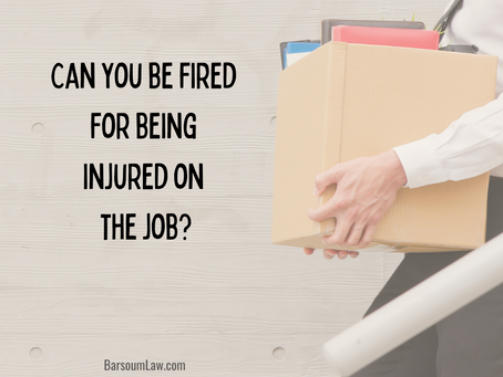 Can you be fired for being injured on the job?
