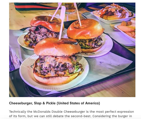 Slap & Pickle cook the best cheeseburger