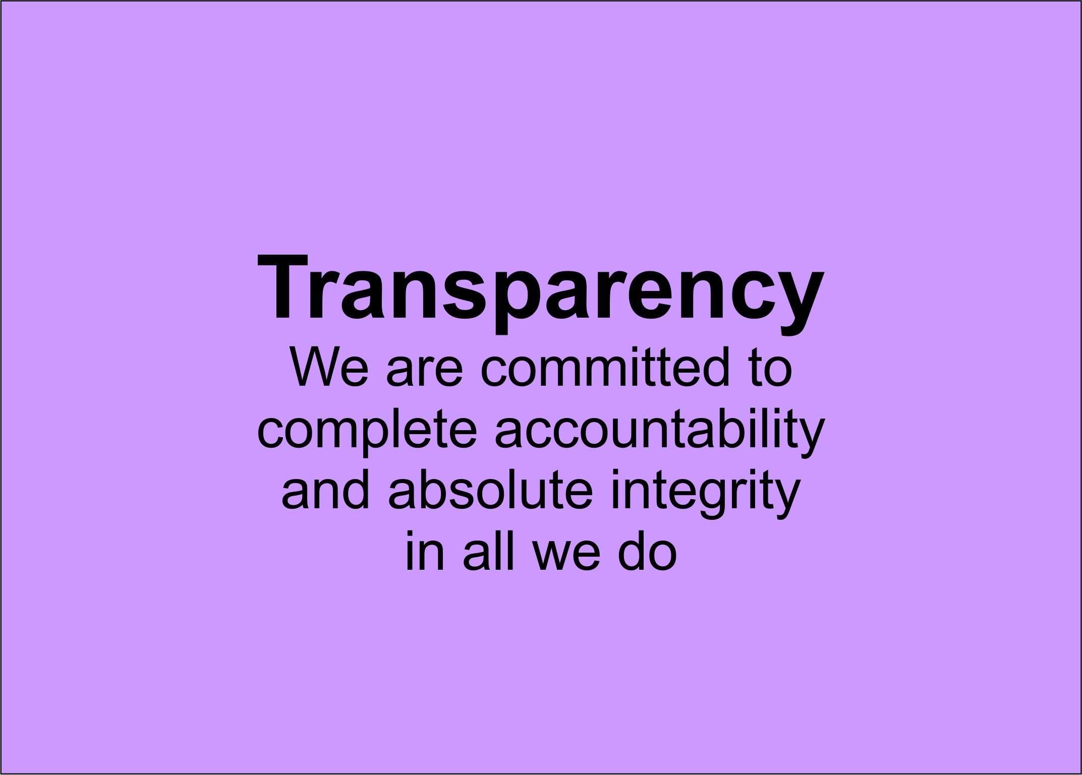 Transparency Base