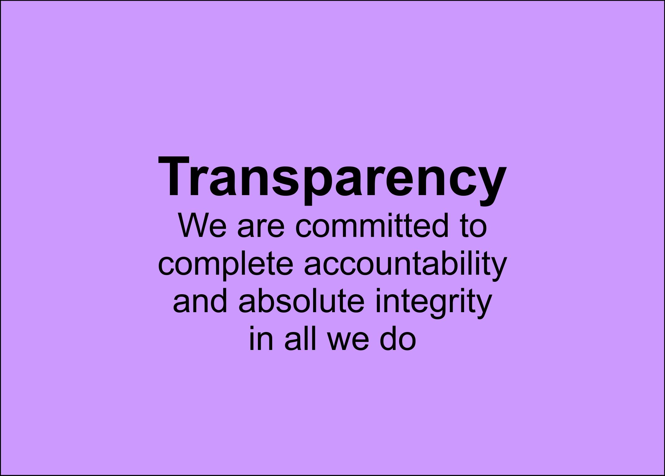 Transparency Base