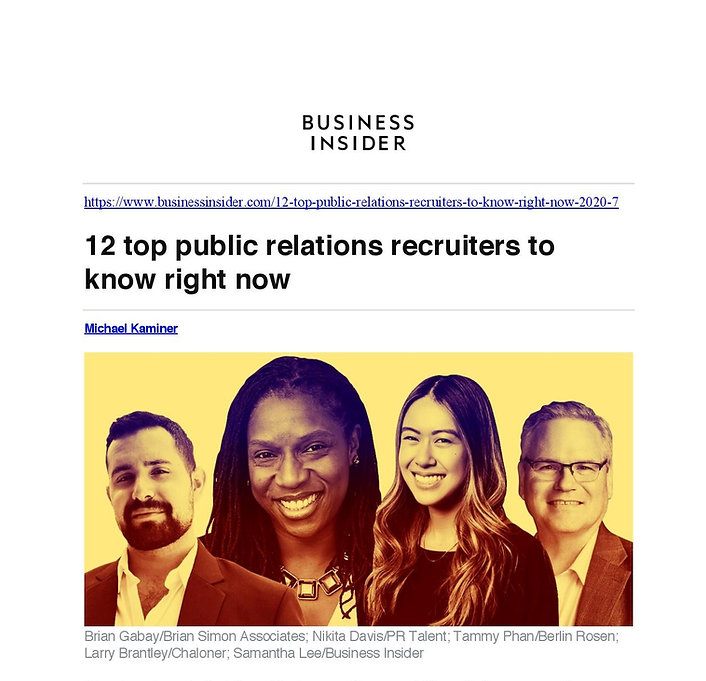 Business Insider - Top PR Recruiters-pag